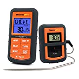 ThermoPro TP07 Barbecue Thermometer Funk Grillthermometer Bratenthermometer mit Timer für BBQ, Ofen, Smoker, Reichweite bis zu 90 Meter