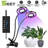 Pflanzenlampe, SKEY Pflanzenlicht mit Zyklus-Timing-Funktion, Automatische Ein- / Ausschalten, 3 Arten von Modus. 5 Arten von Helligkeit, 18W Wachsen licht led Pflanzenleuchte Wachstumslampe