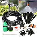 Pathonor Bewässerungssystem Bewässerung Kit 15M , Micro-Drip-System Garten automatische Bewässerung automatische Sprinkler Tröpfchenbewässerung Gartenbewässerung