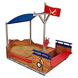 KidKraft 128 Piratenschiff-Sandkasten, naturfarben