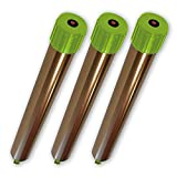ISOTRONIC Maulwurfabwehr Vibrasonic mit ON/Off Schalter 3er Set Vibrationsmotor batteriebetrieben Wühlmausfrei Wühlmausschreck Wühlmausvertreiber Wühltierfrei Maulwurfschreck Schlangenabwehr (3)