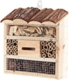 Royal Gardineer Bienenhotel: Insektenhotel Marie, Nisthilfe für Nützlinge, 20 x 20 x 7 cm (Nistkästen)
