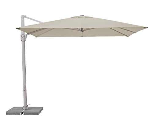 Suncomfort by Glatz Sunflex, off-grey, 300x300 cm quadratisch, Gestell Aluminium, Bespannung Polyester, 28 kg