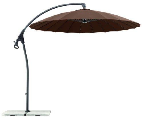 Schneider Sonnenschirm Lotus, mocca, 270 cm rund, Gestell Aluminium/Stahl, Bespannung Polyester, 14.7 kg