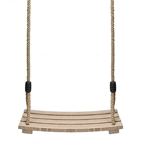 Holz Schaukelsitz, Erwachsene Kinder Garten Schaukel für Innen und Außenbereich mit Einstellbares Seil