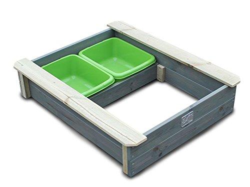 EXIT Aksent Sandkasten mit Deckel / Material: Nordische Fichte / Maße: 94 x 77 x 20 cm / Gewicht: 16 kg