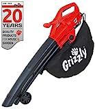 Grizzly Elektro 3in1 Laubsauger Laubblser Hcksler - 2800 Watt - Blasgeschwindigkeit 270 km/h - groe Rder - 40 l Fangsack und Tragegurt