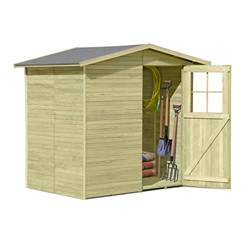 Gartenpirat Gerätehaus aus Holz Modell Frankfurt 180 x 145 cm