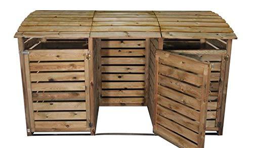 2. meingartenversand.de Mülltonnenbox aus Holz