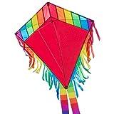 CIM Kinder-Drachen - Maya Eddy RED - Einleiner-Flugdrachen fr Kinder ab 3 Jahren - 65x72cm - inkl. 80m Drachenschnur und 2x250cm Streifenschwnze