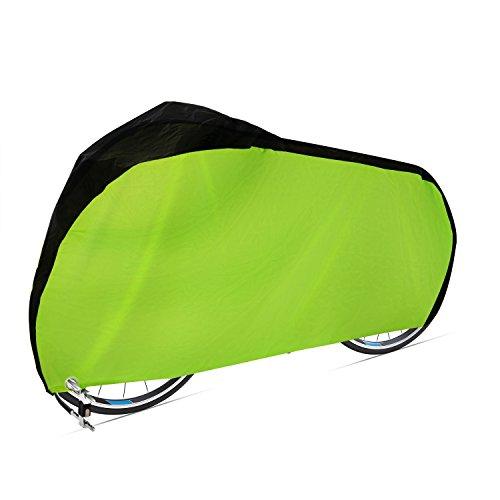 Dokon Fahrradabdeckung 420D Wasserdichtes Atmungsaktives Oxford-Gewebe Fahrradgarage mit Schlossösen Schutz, Universal Fahrrad Schutzhülle