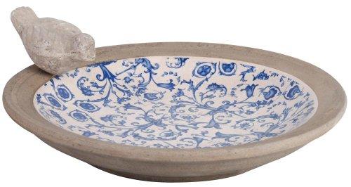 Esschert Design USA Keramik birdbath-Blue/weiß