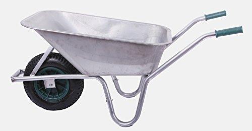 Schubkarre 100 Liter bis 250 kg Belastbarkeit, verzinkt (Gartenkarre Bauschubkarre Baukarre Gartenschubkarre)