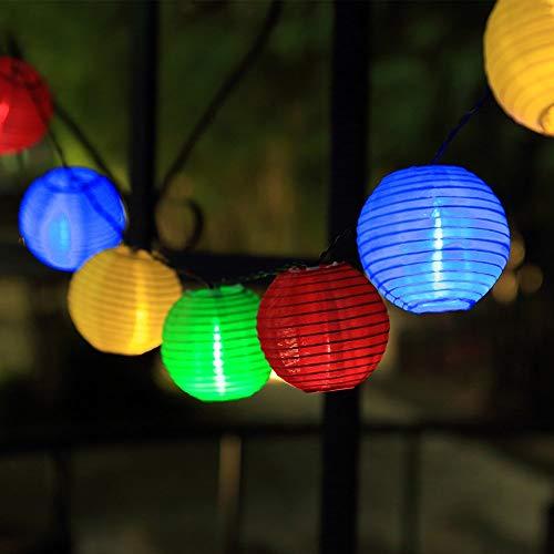 InnooLight 20er LED Solar Lichterkette aussen, 3 Meter Lichterkette mit 2 Meter Anschlusskabel, Wasserdichte Lampions außen Innen Garten Bunt als Gartenlichter draussen