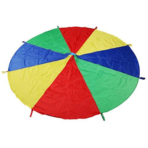 5. LEADSTAR Kinder Spielen Zelten Fallschirm mit 8 Griffen