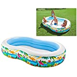 Intex Swim Center Seashore Pool - Kinder Aufstellpool - Planschbecken - 262 x 160 x 46 cm - Fr 3+ Jahre