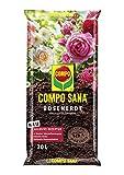 Compo SANA Rosenerde mit 12 Wochen Dünger für alle Beet- und Topfrosen, Kultursubstrat, 20 Liter, braun