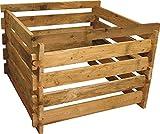 Gartenwelt Riegelsberger Holzkomposter Lrche 120x120xH60 cm mit Holz-Stecksystem Komposter Komposte Steckkomposter Kompostsilo