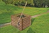 Gartenwelt Riegelsberger Holzkomposter 90x90xH70 cm Kiefer braun kesseldruckimprägniert mit Holz-Stecksystem Komposter Komposte Steckkomposter Kompostsilo