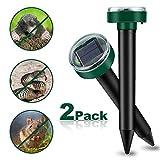 Vivibel 2 Stck Solar Maulwurfabwehr, Ultrasonic Solar Maulwurfschreck, Maulwurfbekmpfung, Whlmausschreck, Mole Repellent, Schdlingsbekmpfung mit IP56 fr Den Garten