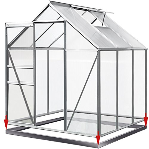 4. Deuba Aluminium Gewächshaus 5,85m³