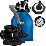 KESSER® Sandfilter Sandfilteranlage 10 m³/h - Poolfilter Filteranlage Filterkessel für Pool Schwimmbecken 4-Wege Ventil, einfache Steuerung, Blau