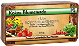 Humusziegel - torffreie Kokosblumenerde für Aussaat und Anzuchterde ohne Dünger - 50 L - 6 x 600 g