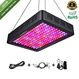 Niello 2000W LED Pflanzenlampe Doppel-10W-Chips LED Grow Light Vollem Spektrum LED Wachstumslicht 200 LEDs Pflanzenlicht Grow Lamp mit UV & IR und mit Rope Hanger fr Zimmerpflanzen,Gemse und Blumen