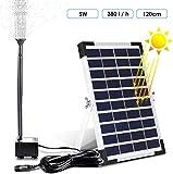 MVPower Solarpumpe Wasserpumpe Teichpumpe Solarteichpumpe für Springbrunnen oder Gartenteich 380L/H 5 W