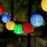 InnooLight 20er LED Solar Lichterkette aussen, 3 Meter Lichterkette mit 2 Meter Anschlusskabel, Wasserdichte Lampions außen Innen Garten Bunt als Gartenlichter