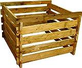 Gartenwelt Riegelsberger Holzkomposter 90x90xH70 cm Kiefer braun kesseldruckimprgniert mit Holz-Stecksystem Komposter Komposte Steckkomposter Kompostsilo