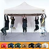 Gorilla Gazebo Pop-Up-Pavillon, 3 x 3 m, robust, wasserdicht, gewerbliche Qualität, Marktstand, 4 Seitenteile und Tragetasche mit Rollen