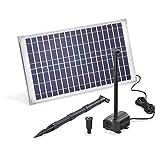 Solar Teichpumpe 25 Watt Solarmodul 875 l/h Förderleistung 2,4 m Förderhöhe esotec Professional Produktserie Komplettset Springbrunnen Gartenteich, 101913