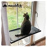 riijk Fenster Katzenhängematte für Katzen bis 23 kg | extra Stabiler Fensterliegeplatz für Katzen | Katzen Fensterliege | Katzenliege FensterPlatz