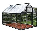 Palram Aluminium GewchsHaus Gartenhaus Hybrid 6x10 anthrazit /310x185x209 cm (LxBxH),Grau