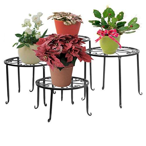 3. Blumenständer 4-in-1 Set, Blumenhocker aus Metall