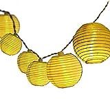 Dailyart Solar Lichterkette Aussen 5M 20er LED IP65 Wasserdicht Lampion/Laternen Solar Lichterkette Auße Beleuchtung für Garten, Terrasse, Hof, Haus, Weihnachten Deko [Energieklasse A+++] (Warmweiß)