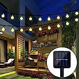 BAOANT Solar Lichterkette Lampion Außen 6 Meter 30 LED Laternen 2 Lichtarten Modi Wasserdicht mit Lichtsensor Beleuchtung Deko für Garten, Terrasse, Hof, Weihnachten, Hochzeit, Party, Fest (Warmweiß)
